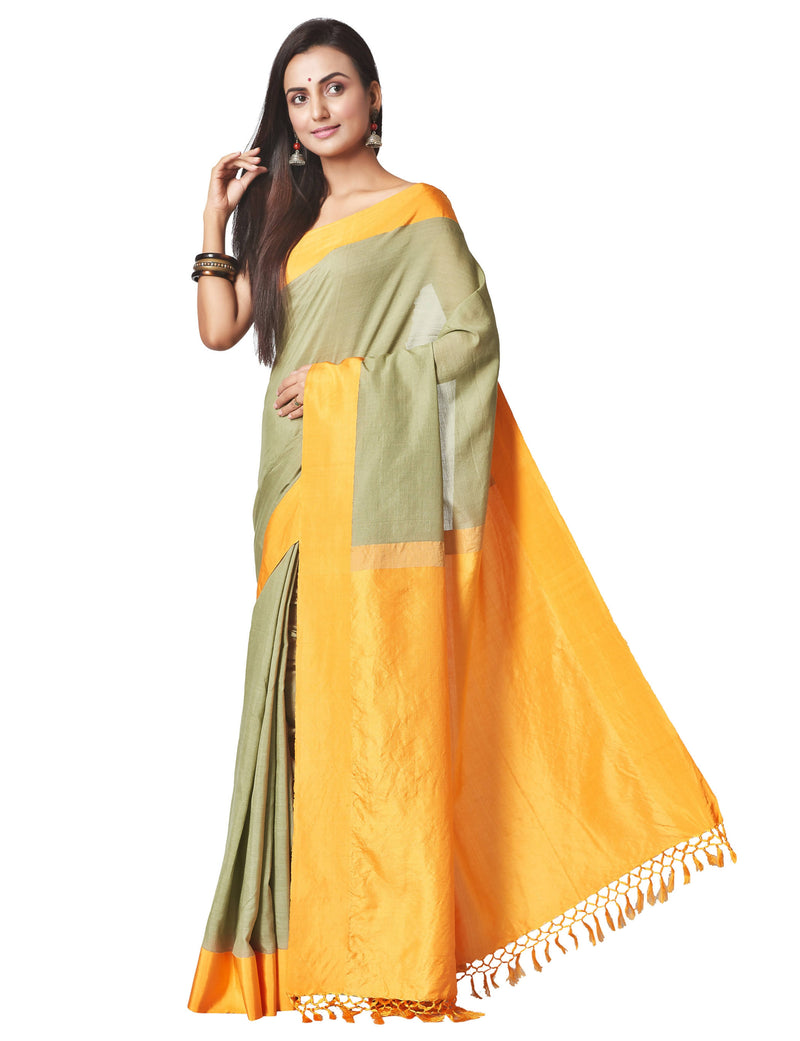Biswa Bangla Handloom Cutshuttle Saree