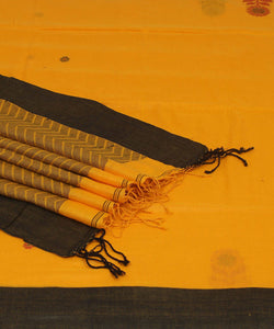 Bengal Handloom Yellow Cotton Saree
