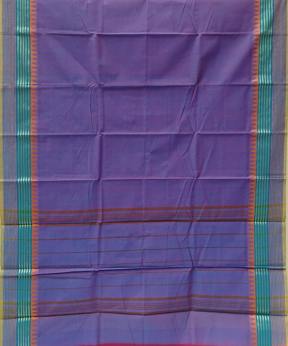 Purple handloom tamil nadu cotton saree