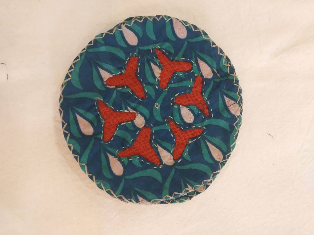 Cutwork Coaster- Red Green