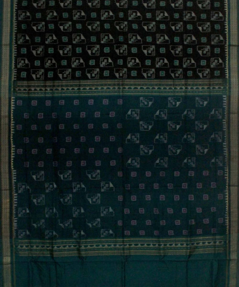 Black Deep Green Handwoven Sambalpuri Saree