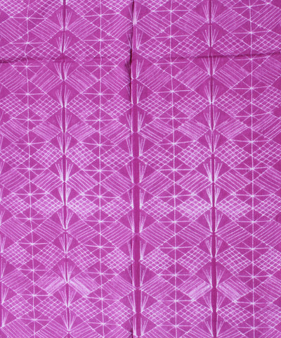 Shibori Pink Printed Cotton Kurta Fabric