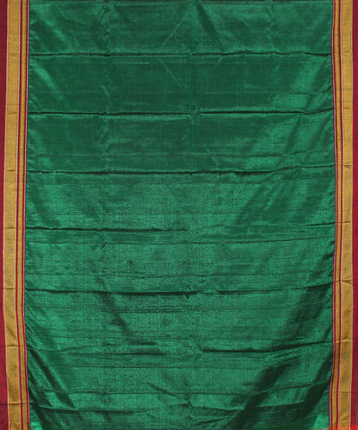 Electric Green Handloom Ilkal Saree