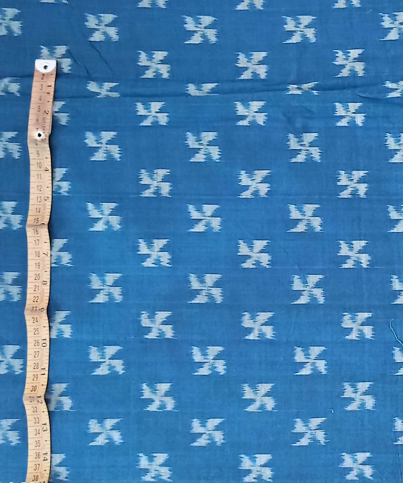 Blue Handloom Odisha Ikat Cotton Fabric
