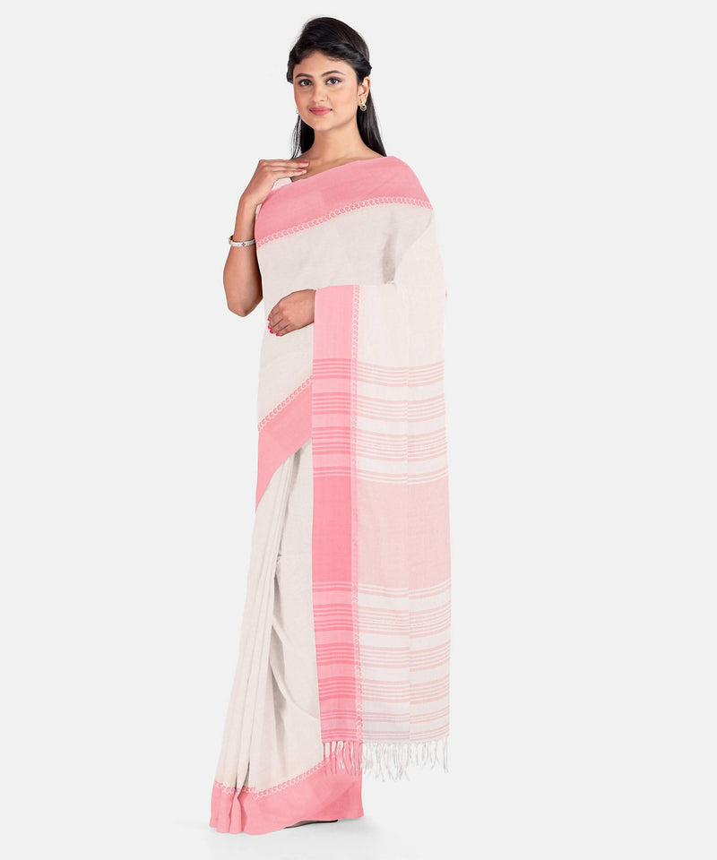 Biswa Bangla Handwoven Herbal Dyed Cotton Saree