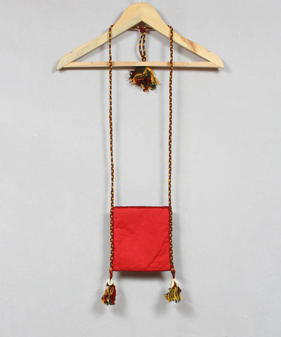 Orange Red Lambani Embroidery Sling Bag