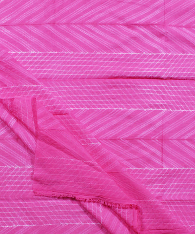Shibori Print Cotton Pink Kurta Fabric