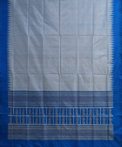 Azure Handloom Silk Dress Material