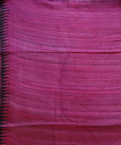 Exclusive Blue-Violet AndBronze Traditional Design Handwoven Tussar Saree