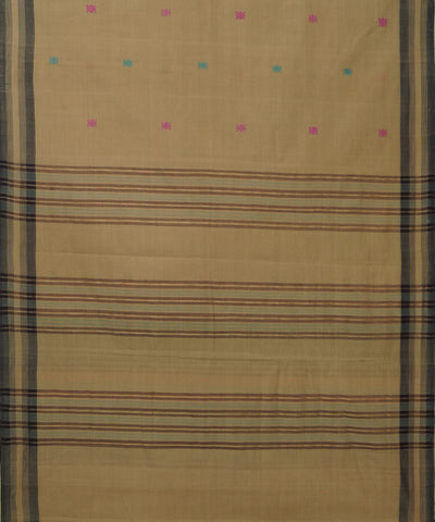 Brown Aruppukottai Handwoven Cotton Saree