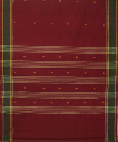 Red Maroon Aruppukottai Handloom Cotton Saree