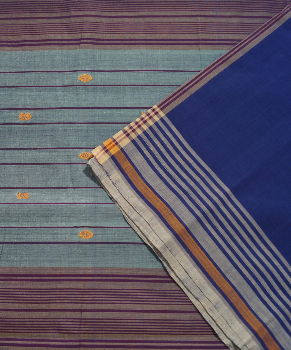 Violet Aruppukottai Handwoven Cotton Saree