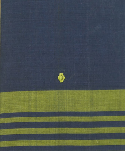 Navy Blue Aruppukottai Handwoven Cotton Saree