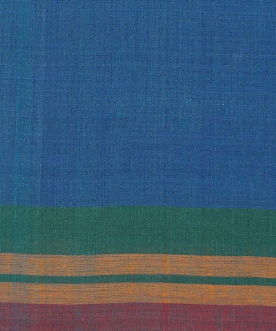 Blue Aruppukottai Handwoven Cotton Saree