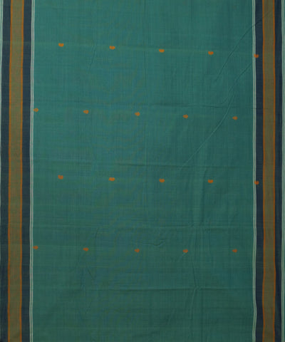 Green Aruppukottai Handwoven Cotton Saree