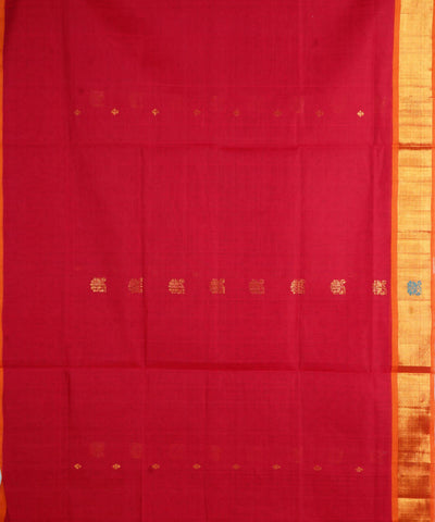 Maroon Handloom venkatagiri Cotton Saree