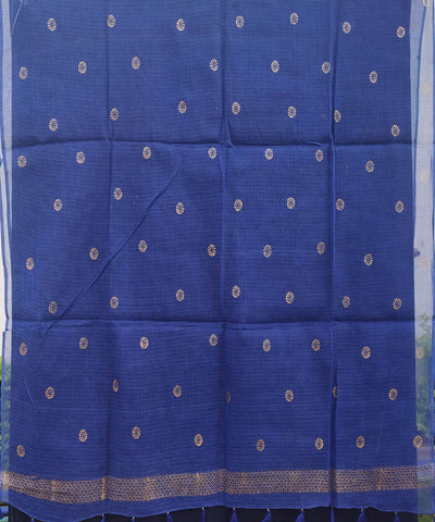 Royal Blue Handwoven Kota Doria Dupatta