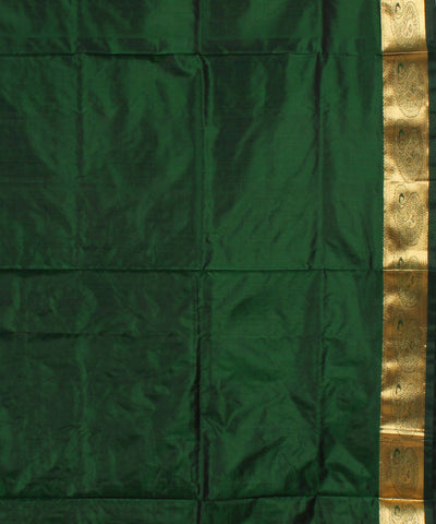 Peach Green Karnataka Handloom Silk Saree