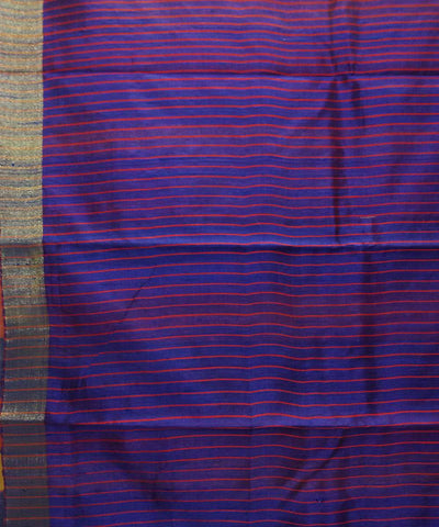 Handwoven Golden Yellow Tussar Silk Saree