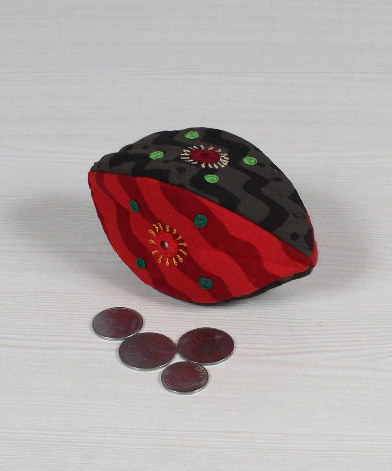 Lambani Embroidery Red Black Coin Pouch