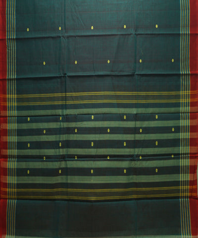 Loom World Double Color Handwoven Aruppukottai Cotton Saree