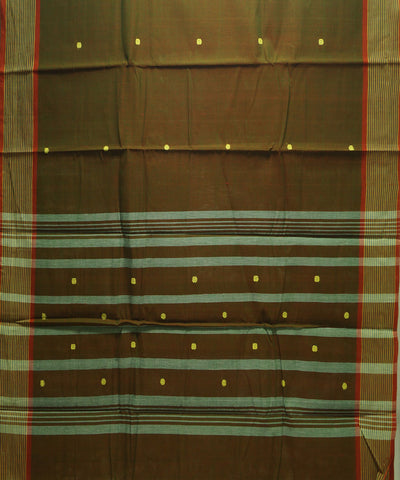 Loom World Multi Color Handwoven Aruppukottai Cotton Saree