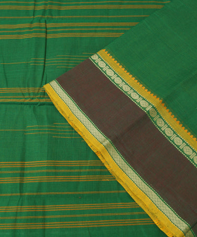 Aruppukottai Handwoven Cotton Green Saree