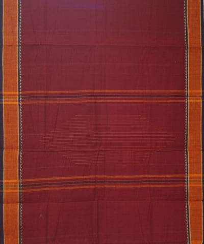 Aruppukottai Handwoven Red Cotton Saree