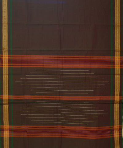 Aruppukottai Double Color Handwoven Cotton Saree