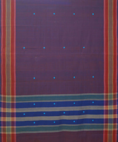 Aruppukottai Violet Handwoven Cotton Saree
