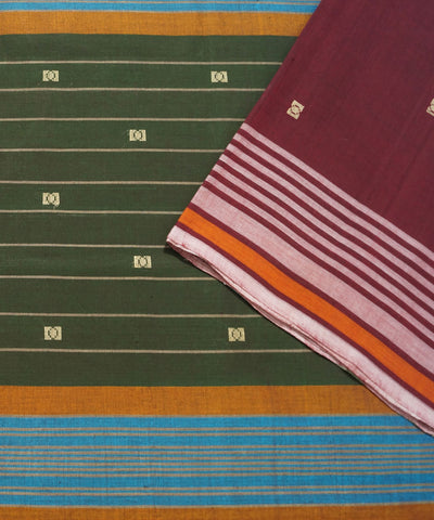 Aruppukottai Wine Handwoven Cotton Saree