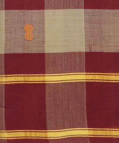 Maroon Aruppukottai Checks Handloom Saree