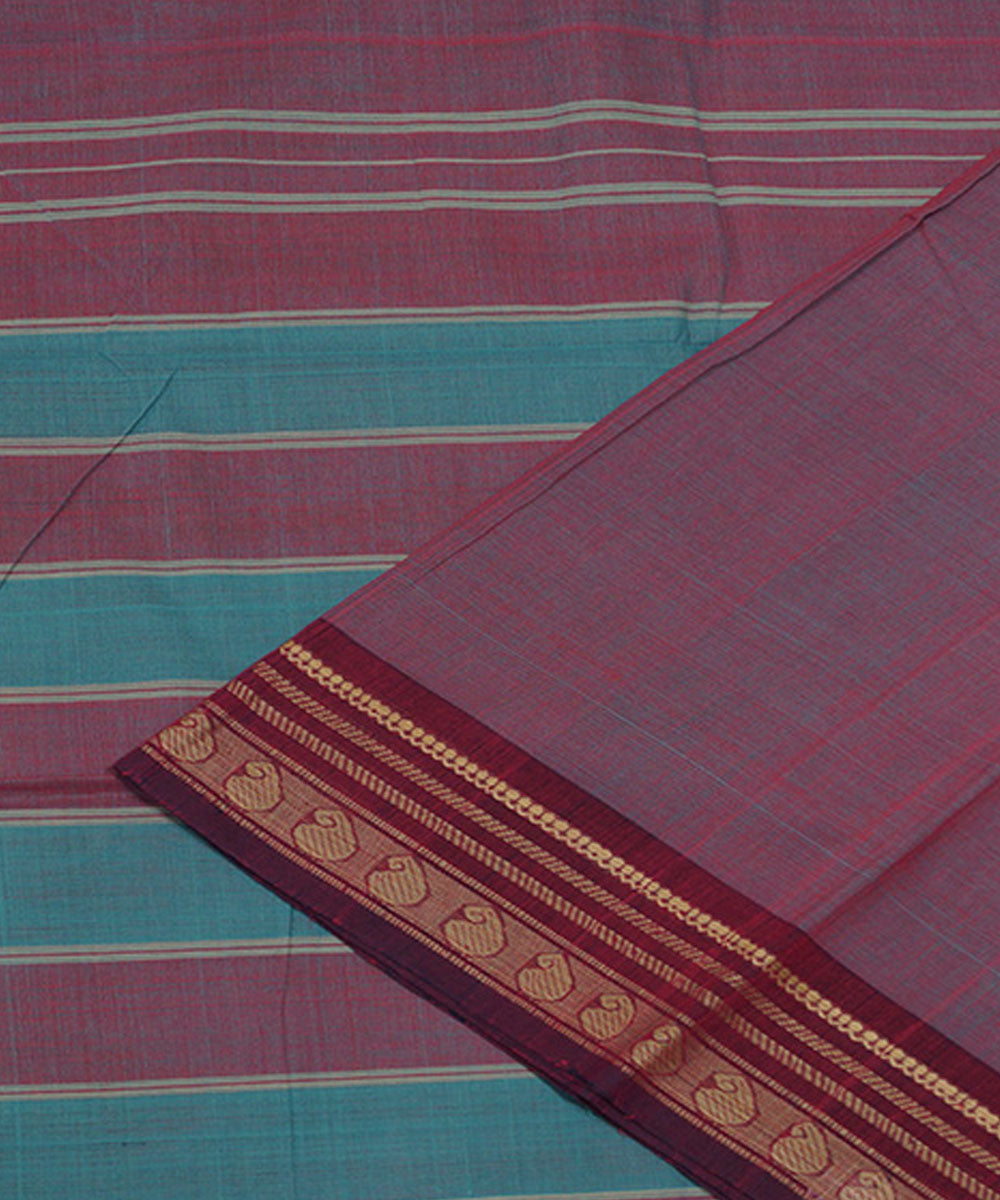 Pink Handloom Aruppukottai Cotton Saree