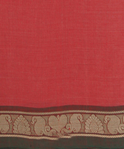 Loom World Red Handwoven Aruppukottai Cotton Saree