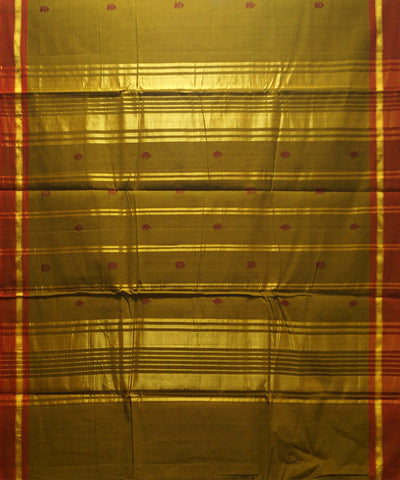 Loom World Green Handwoven Aruppukottai Cotton Saree