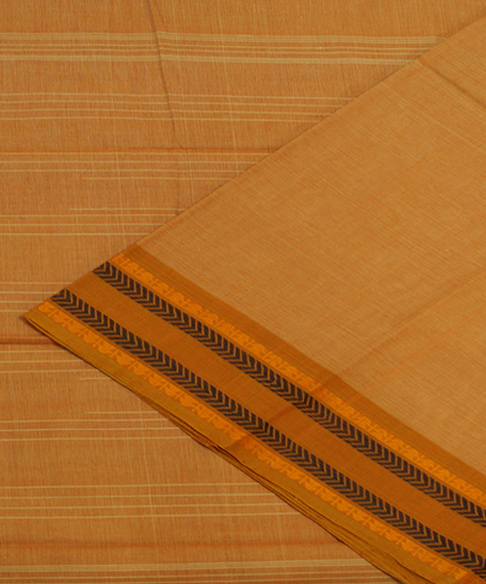 Brown Handloom Aruppukottai Cotton Saree