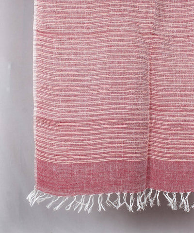 Dull red Handwoven Linen Stole