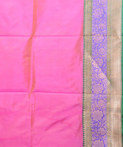 Light Pink Banarasi Handloom Silk Saree