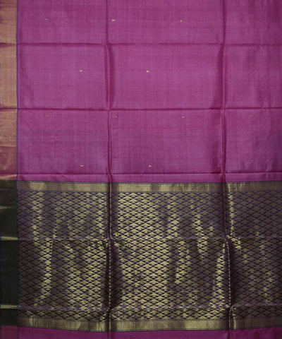 Handwoven Magenta Purple Tussar Silk Saree