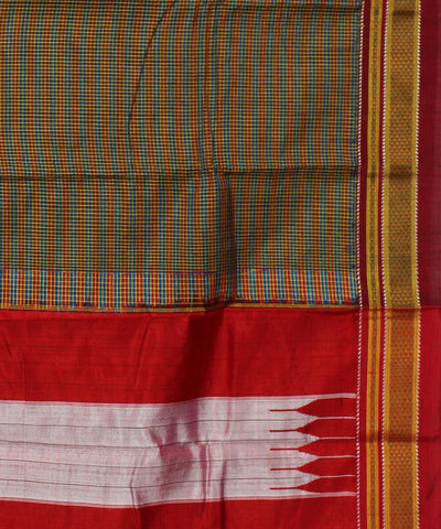 Ilkal Chikki Paras Checks Handwoven Saree