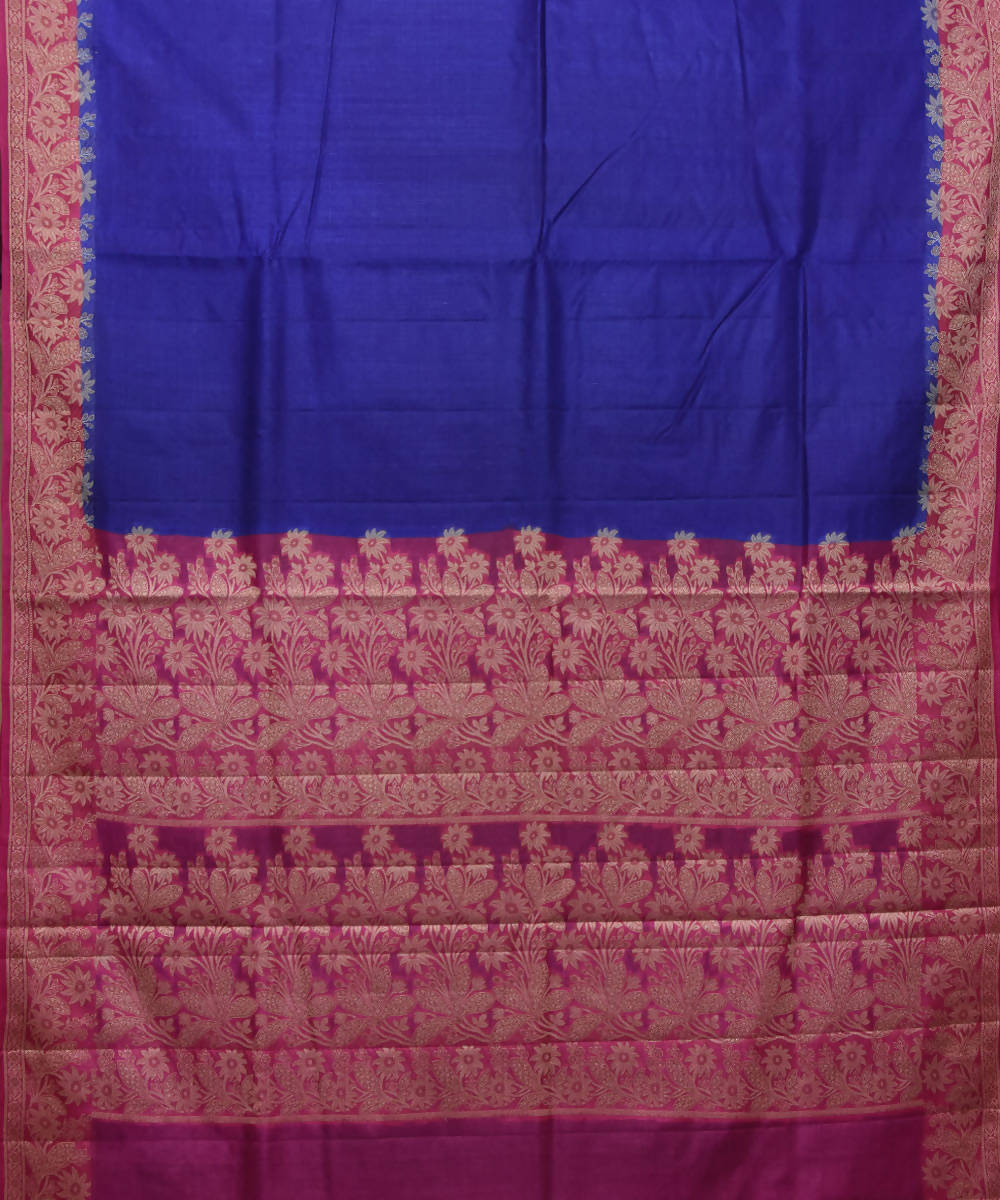 Banarasi Royal Blue Handloom Silk Saree