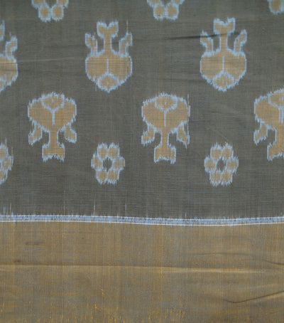 Exclusive Gray And Mustard Traditional Ikat Tie And Dye Double Bed Cover