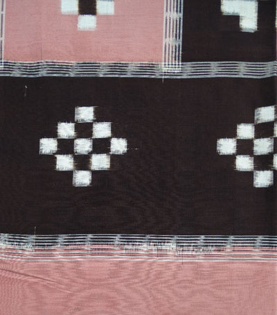 Carmine Pink Brown Pasapalli Ikat Bed Cover
