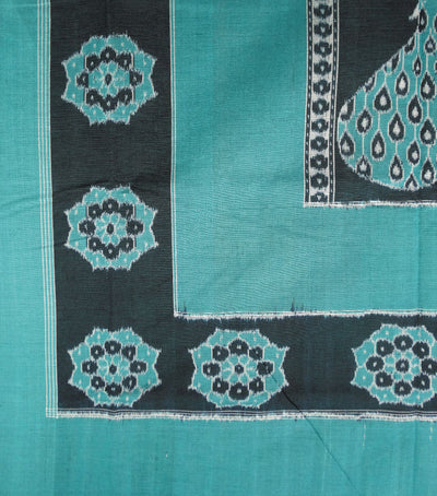Unique Blue Munsell And Black Traditional Ikat Tie And Dye Double Bed Cover