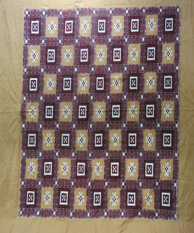 Brick and Maroon Pasapalli Double bed Cover