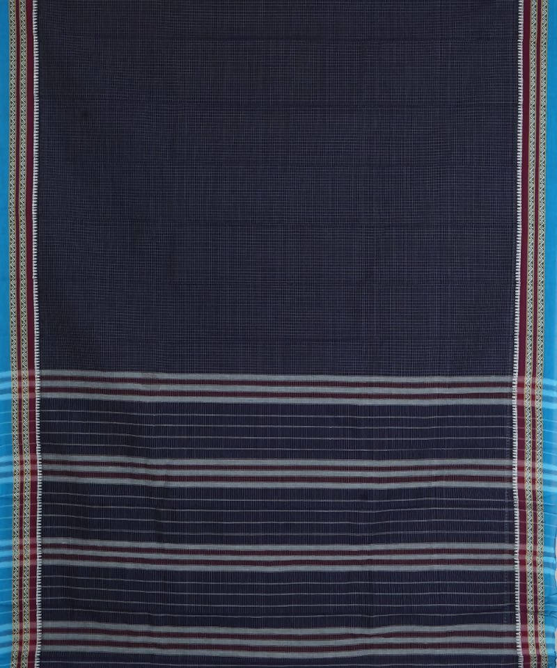 Navy Blue Handloom Narayanpet Cotton Saree