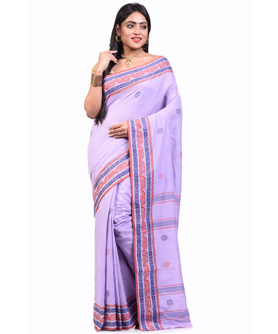 Bengal Handloom Lavender IHB cotton Saree