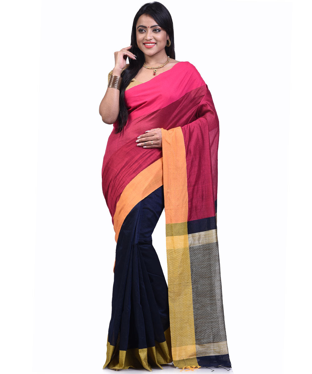 Bengal Handloom Multicolour Sico Saree