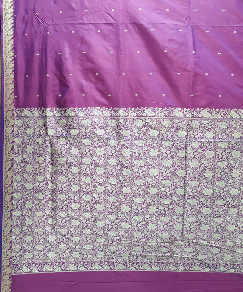 Banarasi light lavender Handloom Saree