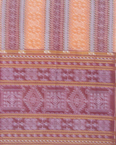 Bargarh Brown and Maroon Cotton Saree